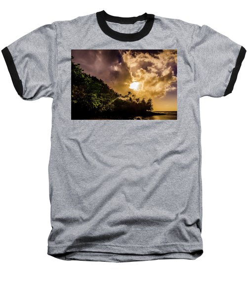 Tropical Sunset Baseball T-Shirt