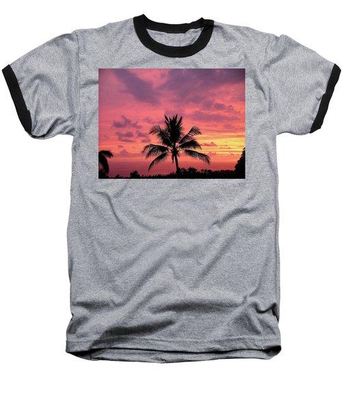 Tropical Sunset Baseball T-Shirt by Karen Nicholson
