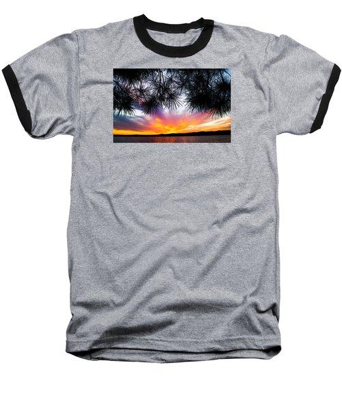 Tropical Sunset  Baseball T-Shirt by Parker Cunningham