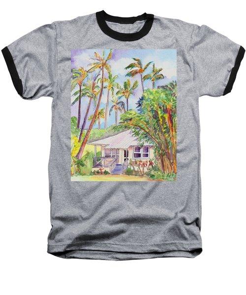 Tropical Waimea Cottage Baseball T-Shirt