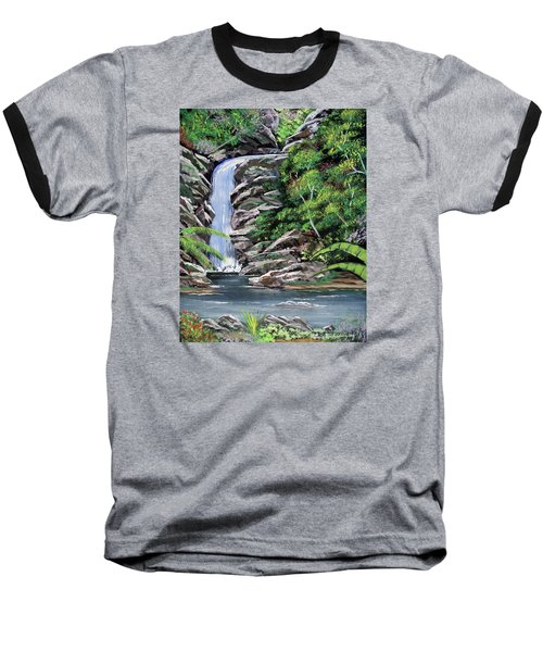 Tropical Waterfall 2 Baseball T-Shirt by Luis F Rodriguez