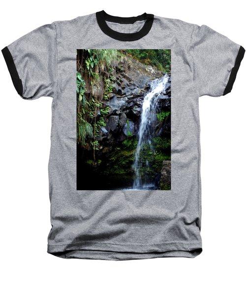 Tropical Waterfall Baseball T-Shirt
