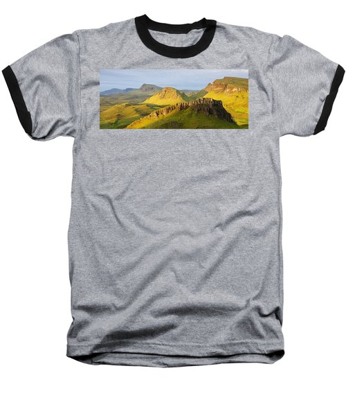 Trotternish Summer Morning Panorama Baseball T-Shirt