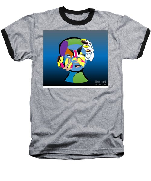 Troubled Baseball T-Shirt by Belinda Threeths