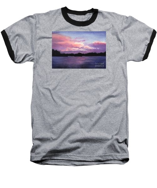 Trout Lake Sunset I Baseball T-Shirt