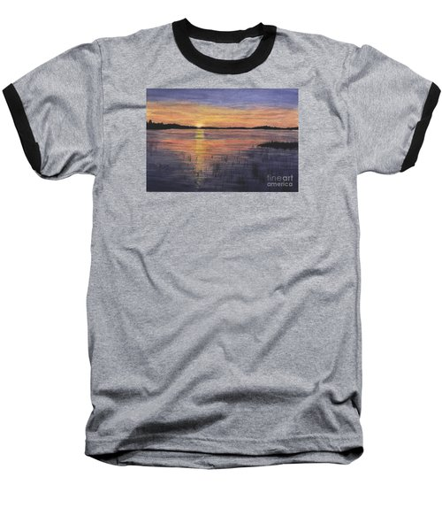 Trout Lake Sunset II Baseball T-Shirt