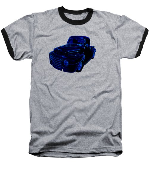 Truck Art Neon Blue Baseball T-Shirt