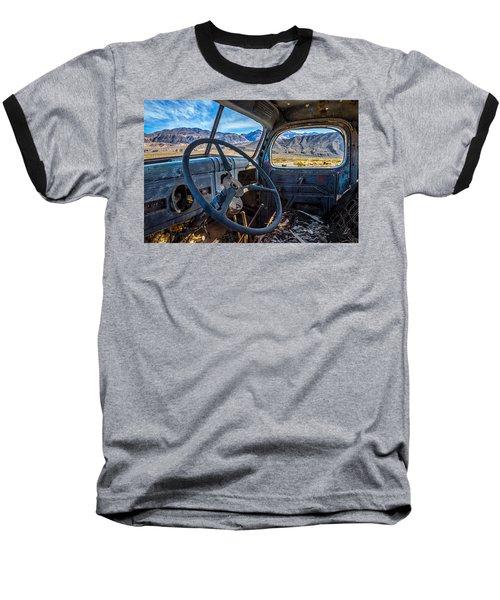 Truck Desert View Baseball T-Shirt by Peter Tellone