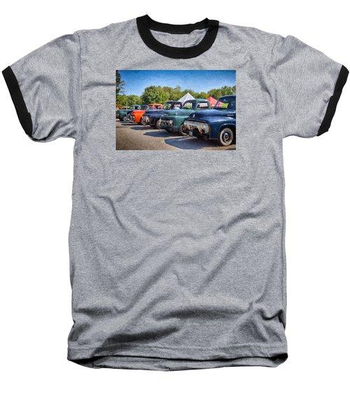 Trucks On Display Baseball T-Shirt by Tricia Marchlik