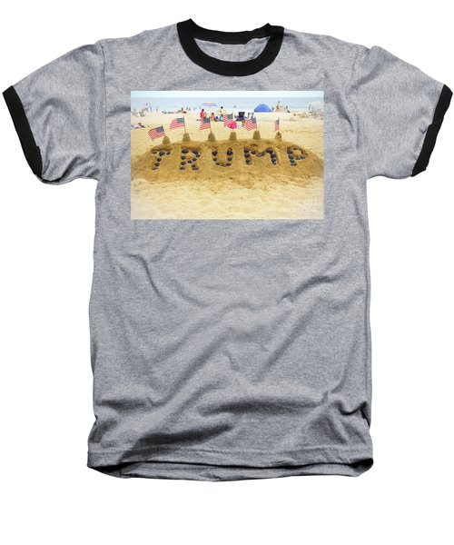 Baseball T-Shirt featuring the photograph Trump - Sandcastle by Colleen Kammerer