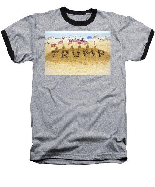 Trump - Sandcastle Baseball T-Shirt