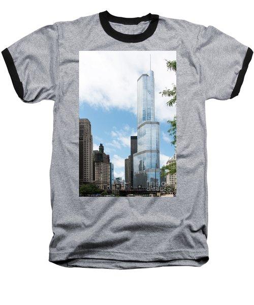 Trump Tower In Chicago Baseball T-Shirt