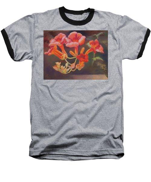 Trumpet Flowers Baseball T-Shirt