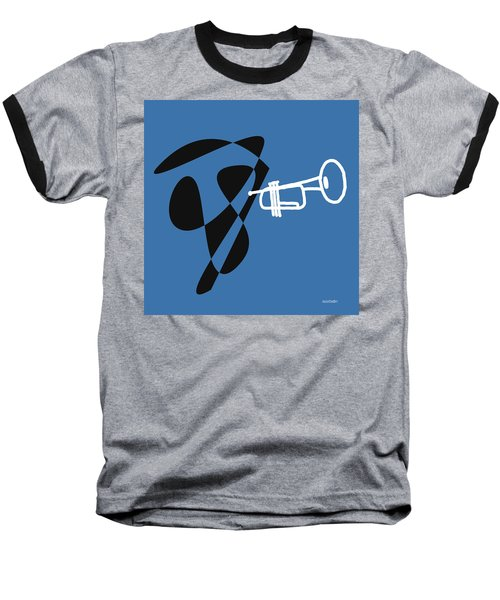 Trumpet In Blue Baseball T-Shirt by David Bridburg