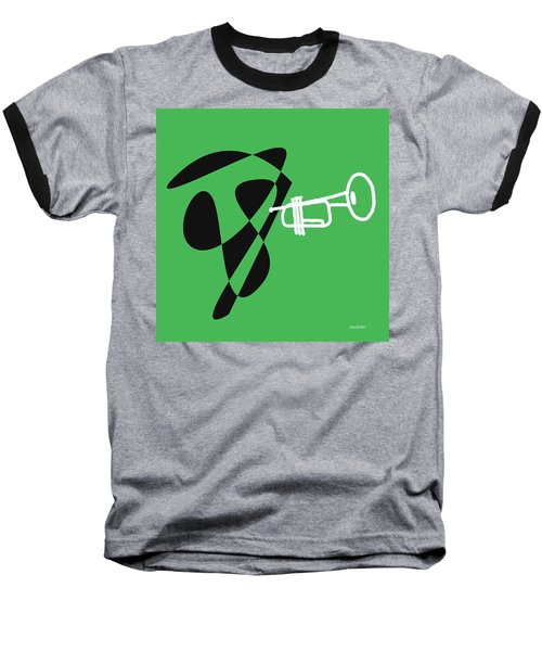 Trumpet In Green Baseball T-Shirt by David Bridburg