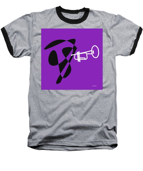 Trumpet In Purple Baseball T-Shirt by David Bridburg