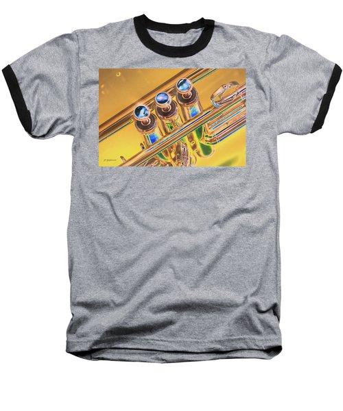Trumpet Keys Baseball T-Shirt by Pamela Williams