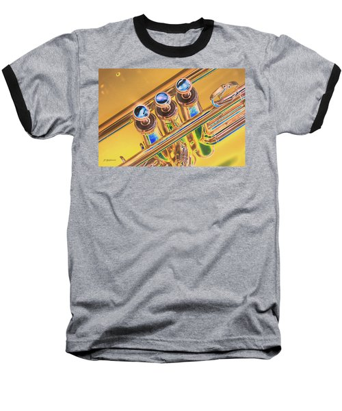 Trumpet Keys Baseball T-Shirt