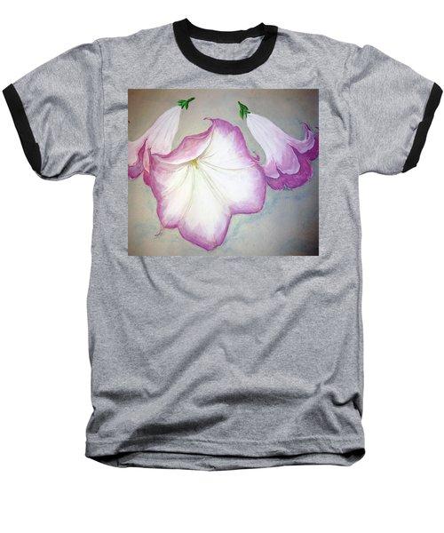 Trumpet Lilies Baseball T-Shirt