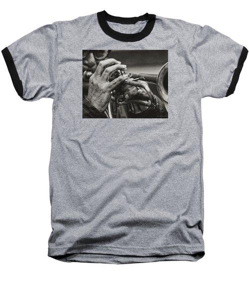 Trumpet Solo Baseball T-Shirt by Pedro L Gili