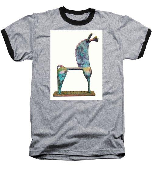 Trumpeting Horse 8 Baseball T-Shirt by Al Goldfarb
