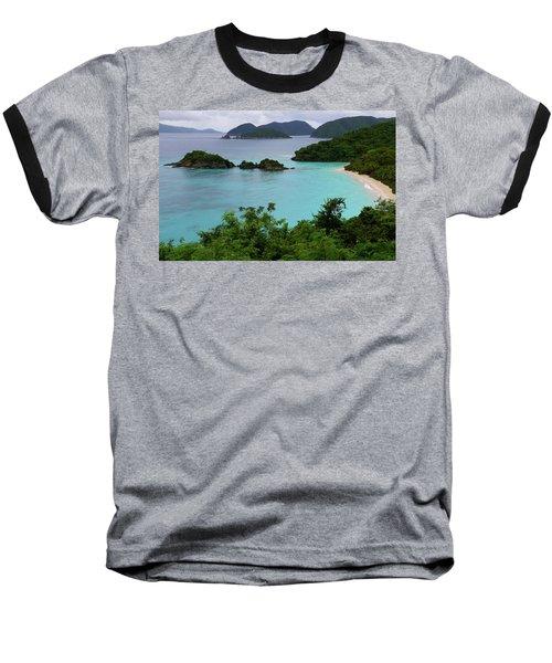 Trunk Bay At U.s. Virgin Islands National Park Baseball T-Shirt by Jetson Nguyen