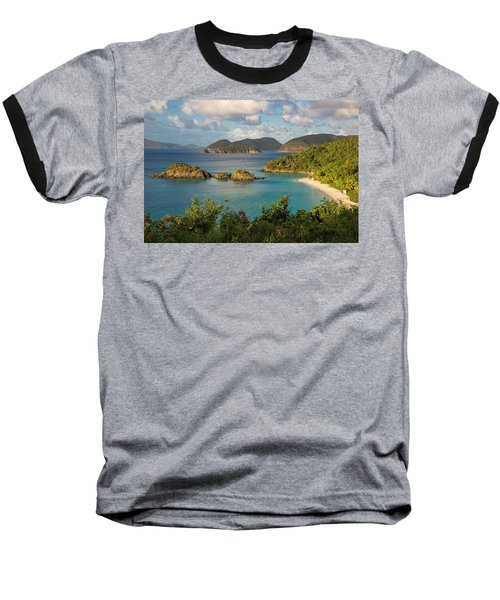 Baseball T-Shirt featuring the photograph Trunk Bay Morning by Adam Romanowicz