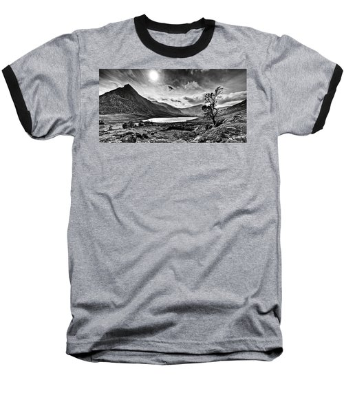 Tryfan And Llyn Ogwen Baseball T-Shirt by Beverly Cash