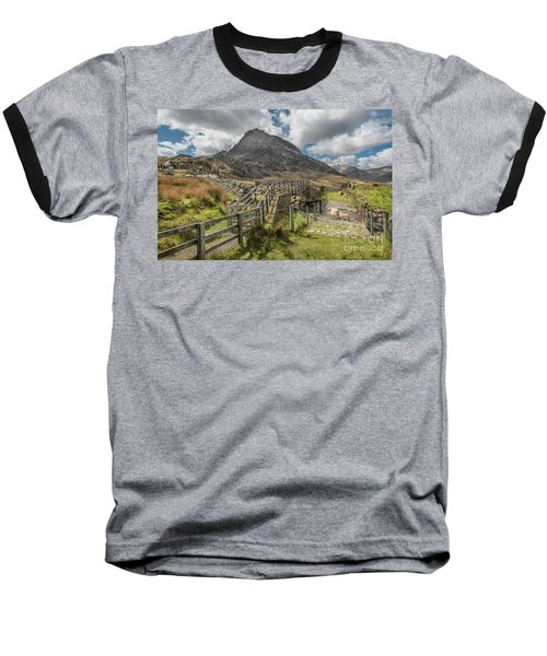 Baseball T-Shirt featuring the photograph Tryfan And The Ogwen Valley by Adrian Evans