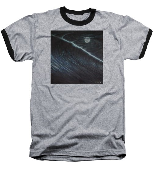 Tsunami Baseball T-Shirt by Angel Ortiz