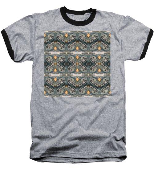 Tsunami Mirror Pattern Baseball T-Shirt