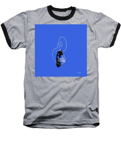 Tuba In Blue Baseball T-Shirt