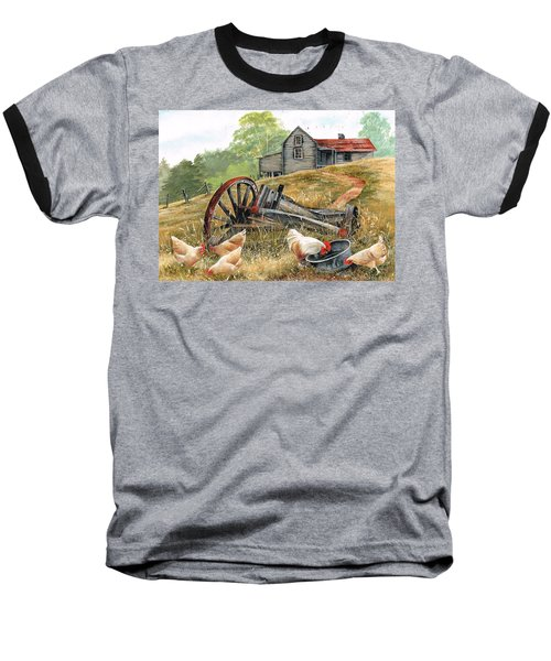 Baseball T-Shirt featuring the painting Tucker Time by Val Stokes