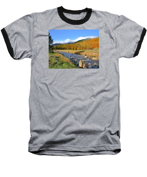 Tuckerman's Ravine Baseball T-Shirt by Debbie Stahre