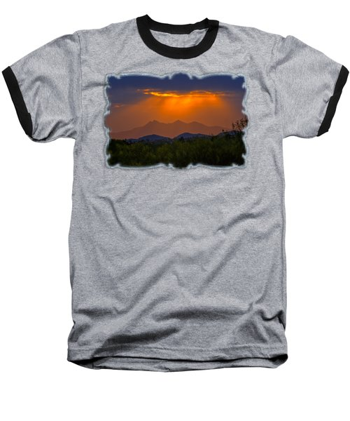 Tucson Mountains Sunset H29 Baseball T-Shirt by Mark Myhaver