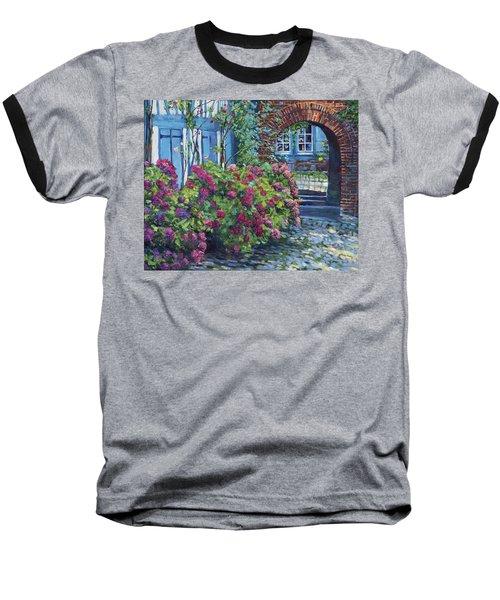 Tudor Hydrangea Garden Baseball T-Shirt