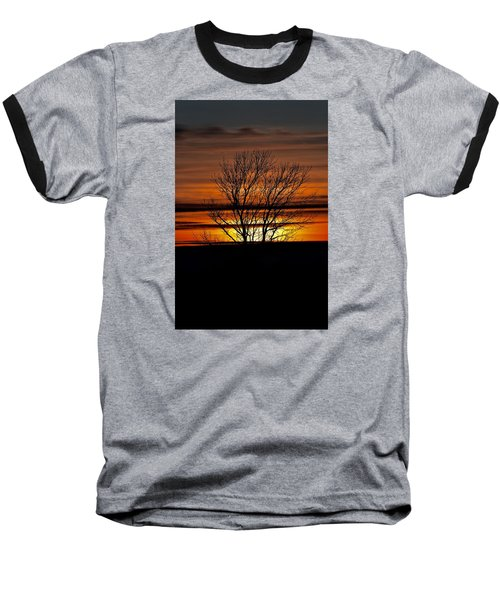 Tuesday Afternoon Sunset Baseball T-Shirt by Dacia Doroff