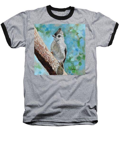 Tufted Titmouse #1 Baseball T-Shirt