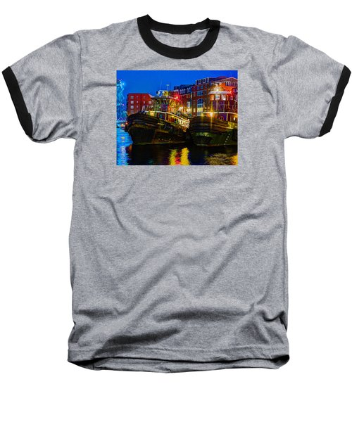 Tug Boat Alley 026 Baseball T-Shirt