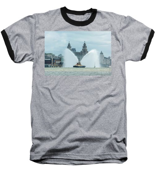 Tug Boat Fountain Baseball T-Shirt