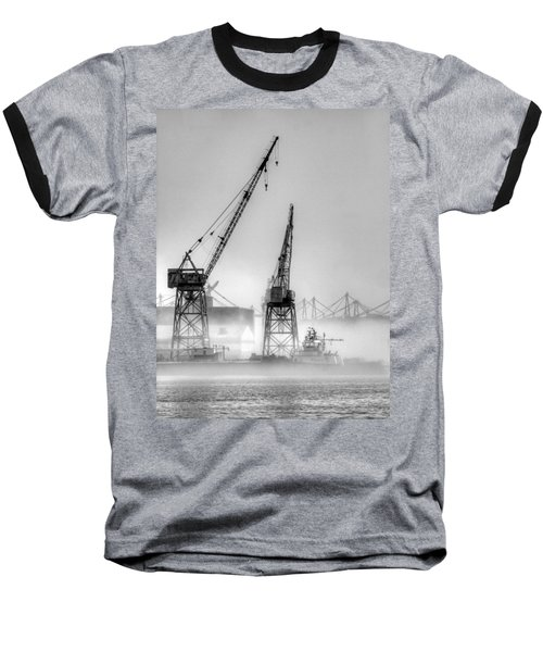Tug With Cranes Baseball T-Shirt