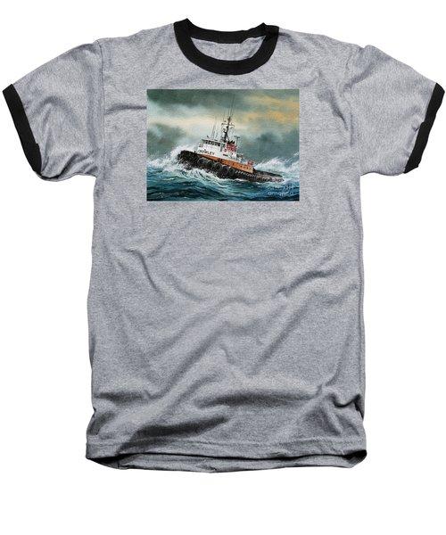 Tugboat Hunter Crowley Baseball T-Shirt by James Williamson