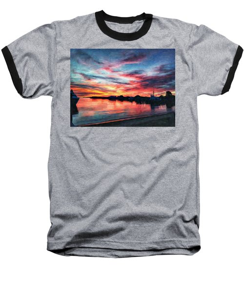 Tugboat Sirius At Sunrise Baseball T-Shirt