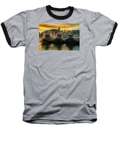 Tugboats In Portsmouth Harbor At Dawn Baseball T-Shirt