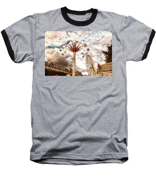 Tuilerie Garden Paris Swings Baseball T-Shirt