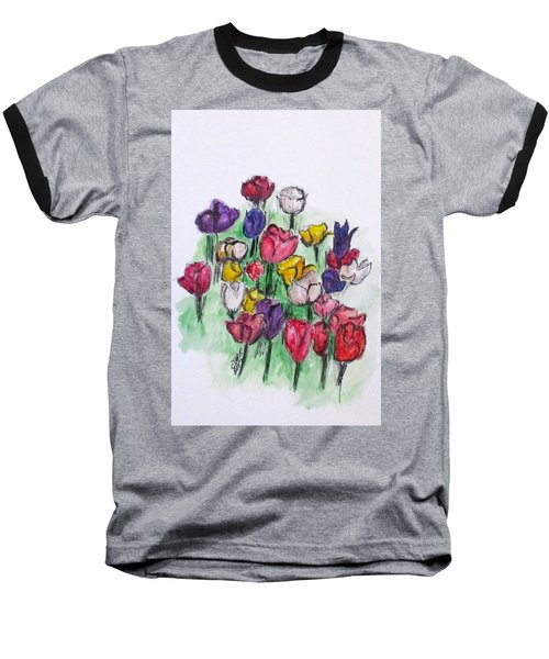 Tulip Bed Baseball T-Shirt