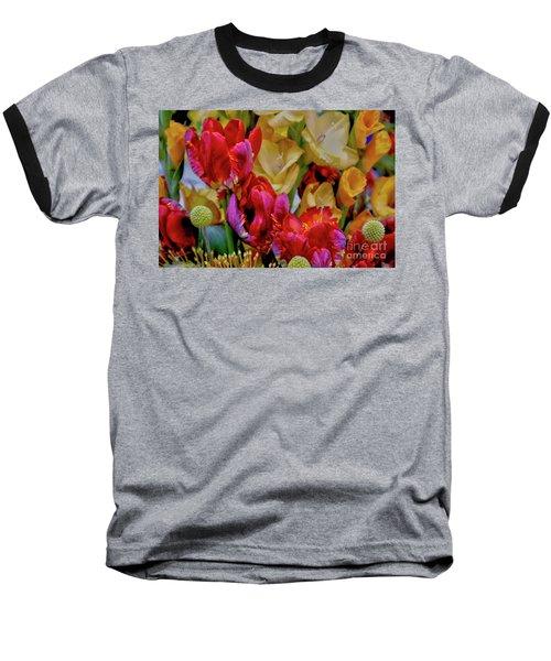 Tulip Bouquet Baseball T-Shirt by Sandy Moulder