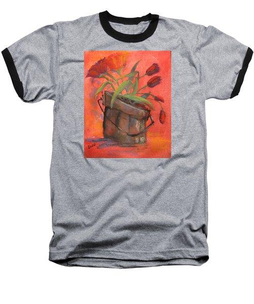 Tulip Bucket Baseball T-Shirt by Terri Einer
