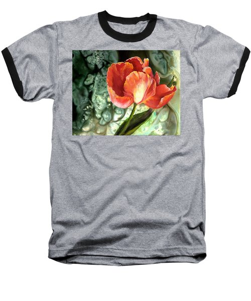 Baseball T-Shirt featuring the painting Tulip Dance by Sherry Shipley