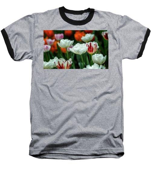 Tulip Flowers Baseball T-Shirt